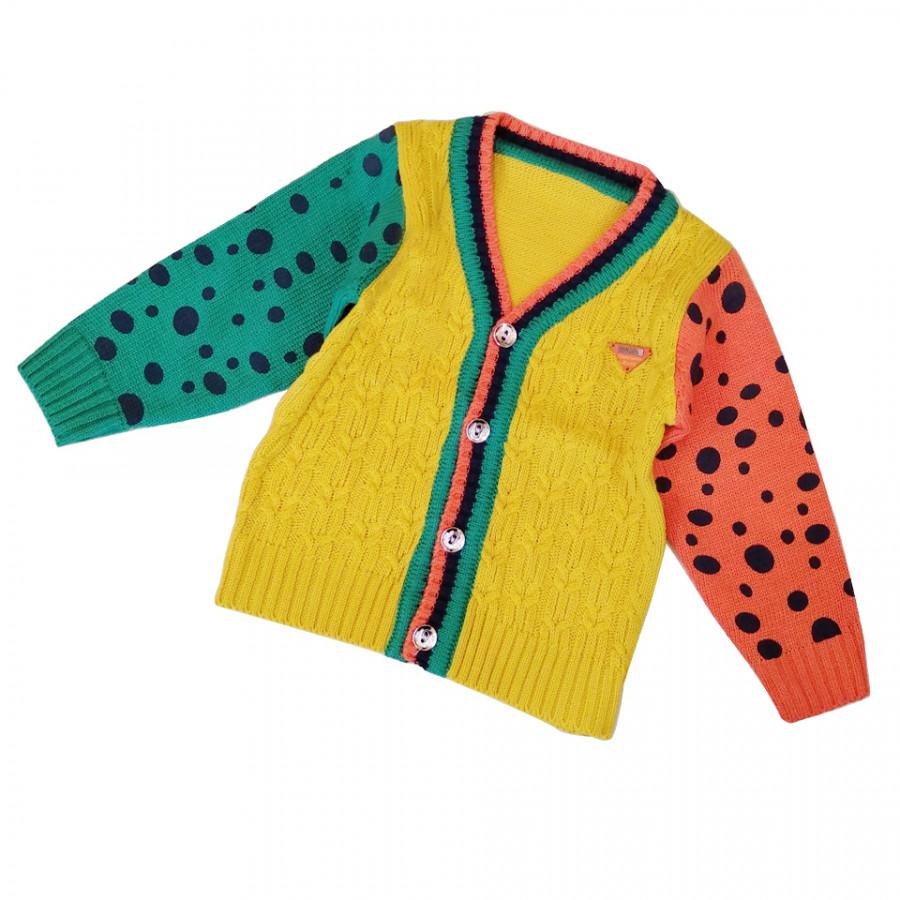 Áo khoác len tay bi bé trai