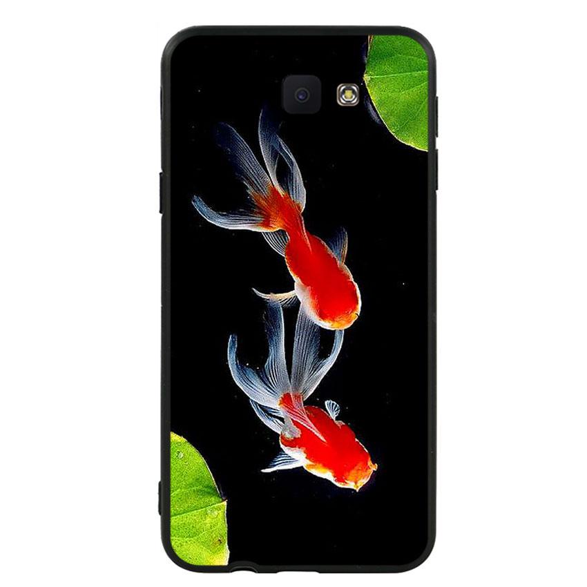 Ốp lưng nhựa cứng viền dẻo TPU cho điện thoại Samsung Galaxy J5 Prime - Cá Koi 03
