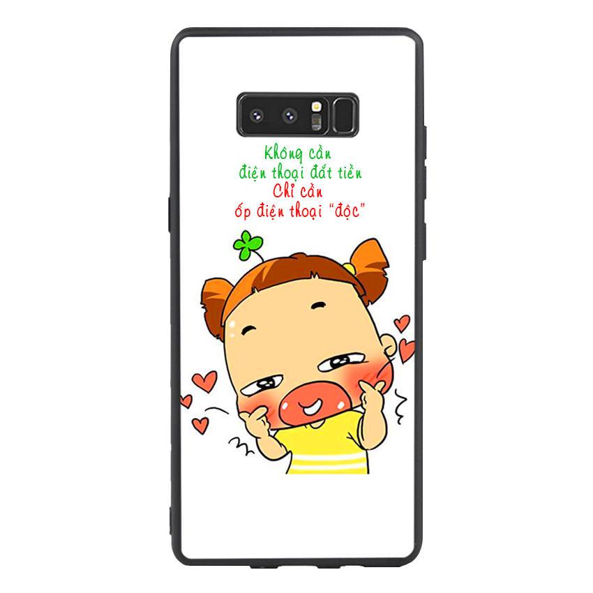 Ốp lưng viền TPU cho điện thoại Samsung Galaxy Note 8 - Qak