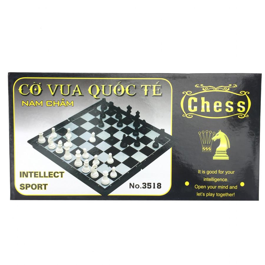 Bộ cờ vua nam châm  kích thước 36cm x 36cm hộp đen