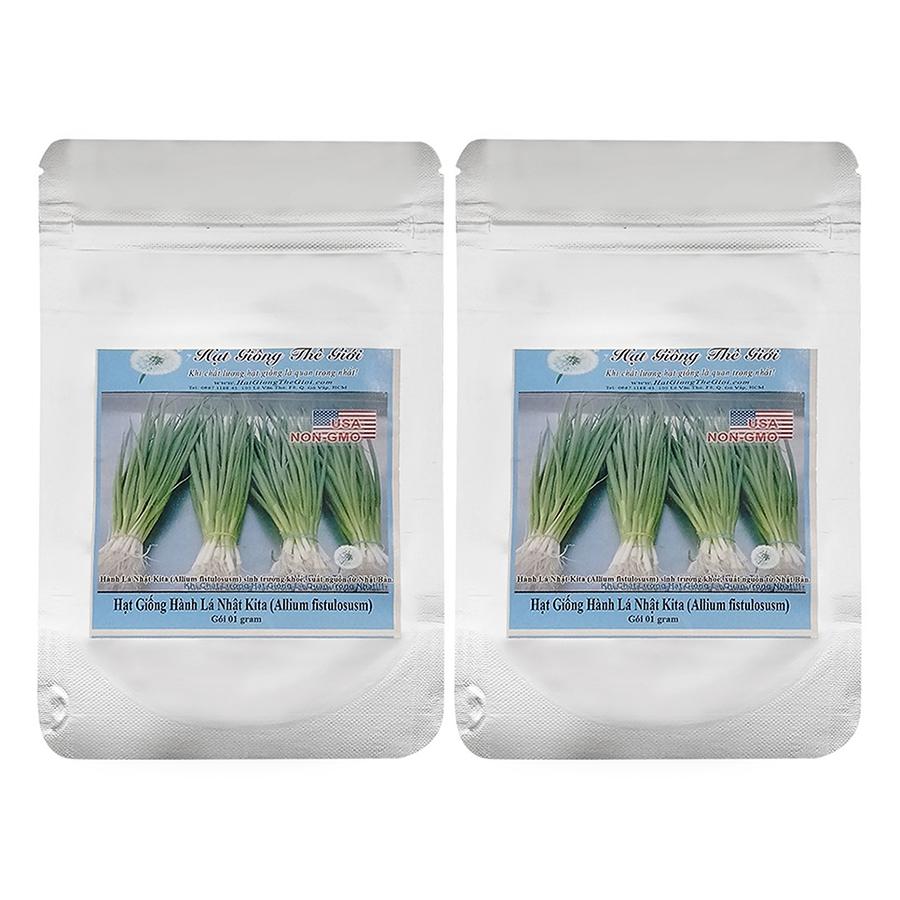 Bộ 2 Túi Hạt Giống Hành Lá Nhật Kita (Allium Fistulosusm) (1g)