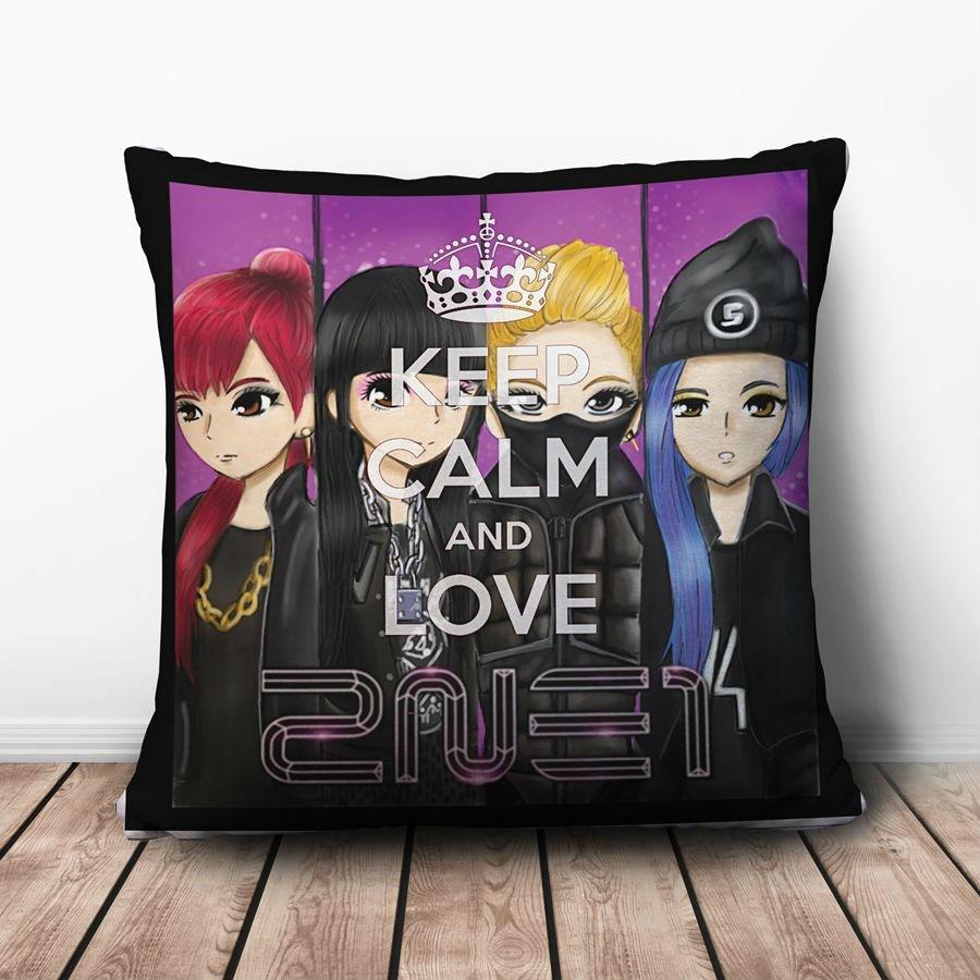 Gối Ôm Vuông Keep Calm And Love 2NE1 GVKC001 (36 x 36 cm)