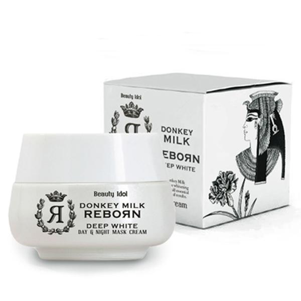 Kem dưỡng tái tạo da ngày và đêm chiết xuất sữa lừa  Beauty Idol 50ml