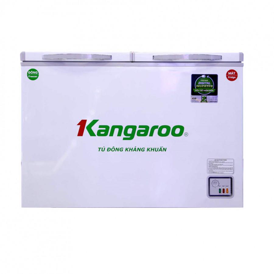 Tủ đông kháng khuẩn Kangaroo KG388NC2 388L 2 ngăn 2 cánh- Hàng Chính Hãng