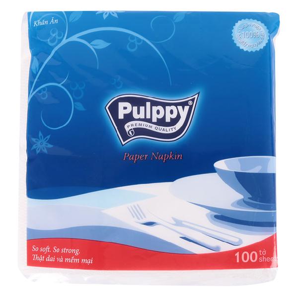 Khăn Ăn Pulppy Napkin Gói 100 Tờ