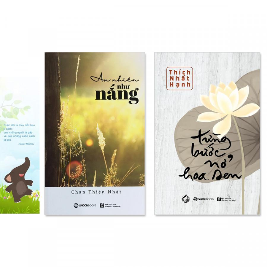 Combo 2 cuốn: Từng Bước Nở Hoa Sen, An Nhiên Như Nắng (Tặng kèm bookmark danh ngôn hình voi) - 6109041 , 8089303821323 , 62_8475982 , 165000 , Combo-2-cuon-Tung-Buoc-No-Hoa-Sen-An-Nhien-Nhu-Nang-Tang-kem-bookmark-danh-ngon-hinh-voi-62_8475982 , tiki.vn , Combo 2 cuốn: Từng Bước Nở Hoa Sen, An Nhiên Như Nắng (Tặng kèm bookmark danh ngôn hình voi)