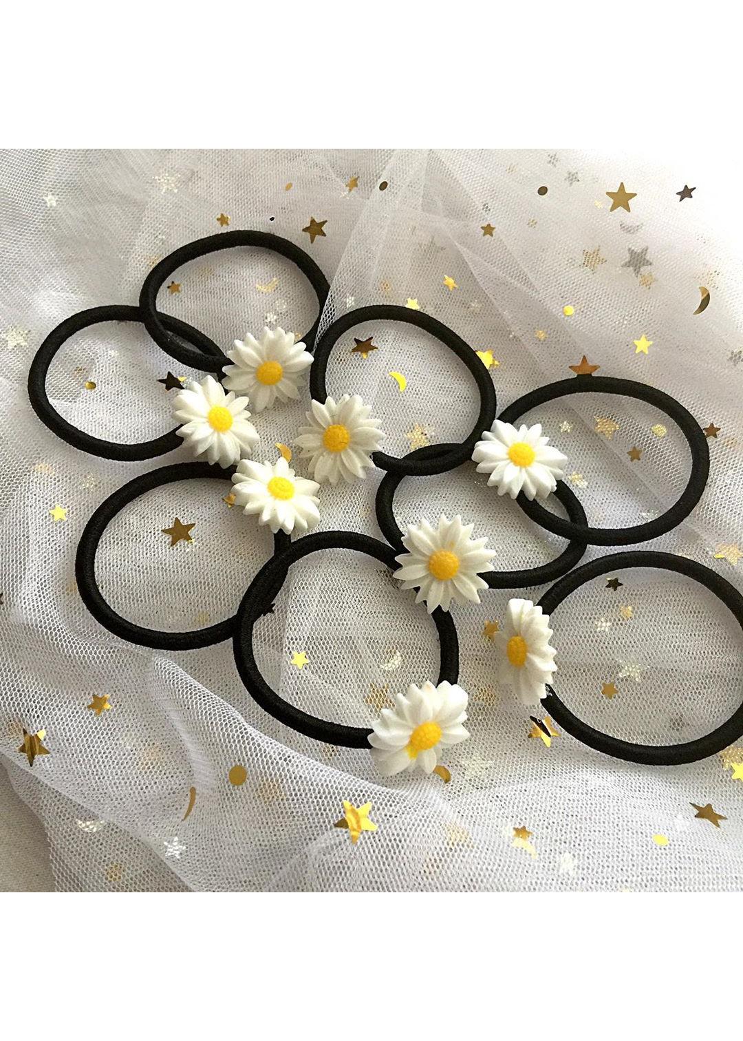 Bộ 8 dây buộc tóc hoa cúc họa mi