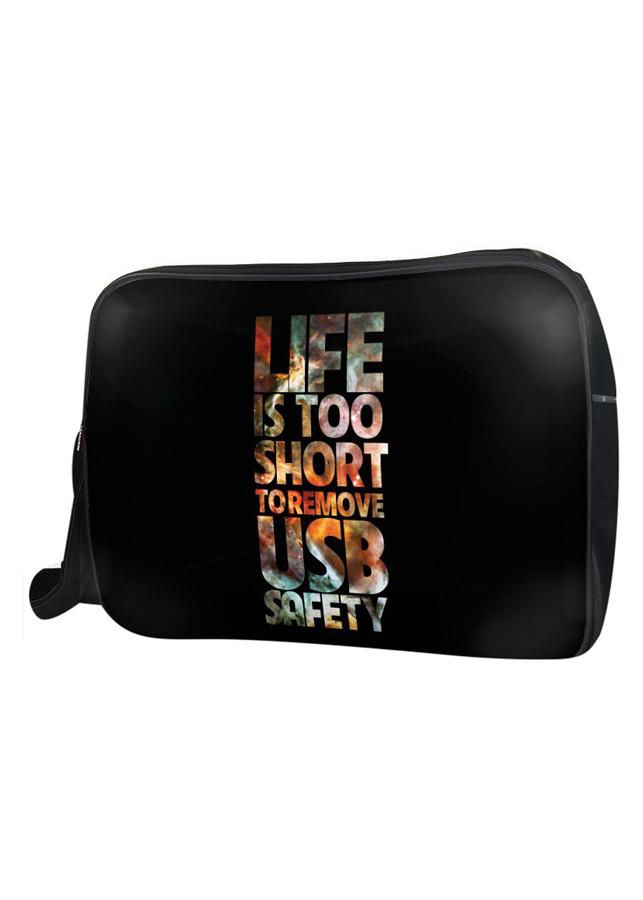 Túi Đeo Chéo Hộp Unisex Life Is Too Short - TCTE010