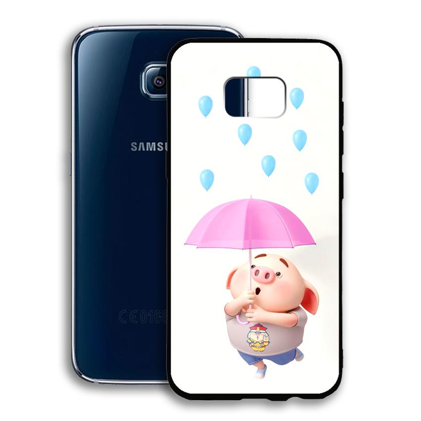 Ốp lưng viền TPU cho điện thoại Samsung Galaxy S6 - 02045 0523 PIG26 - Hàng Chính Hãng