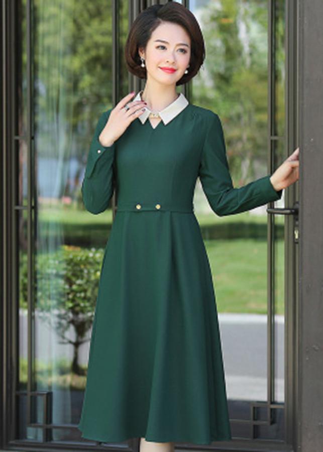 Đầm Trung Niên Vintage Dịu Dàng Korea TT - KR31