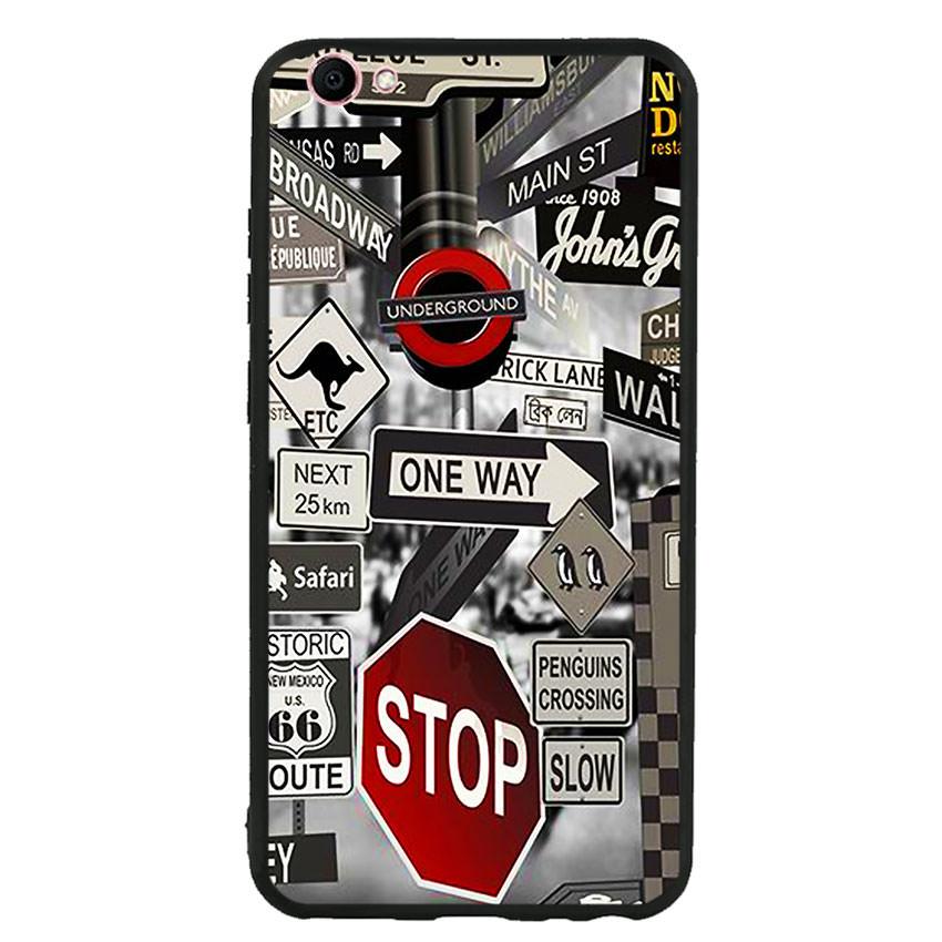 Ốp lưng viền TPU cho điện thoại Vivo V5s -Street 01