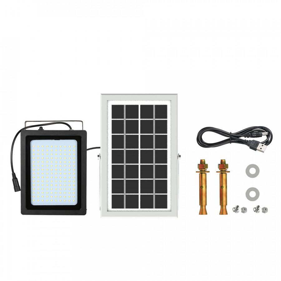 150 LED Solar Powered LED Flood Outdoor Light Lamp Manual/ Light Control/Radar Sensing with USB Charging Port IP65 Water