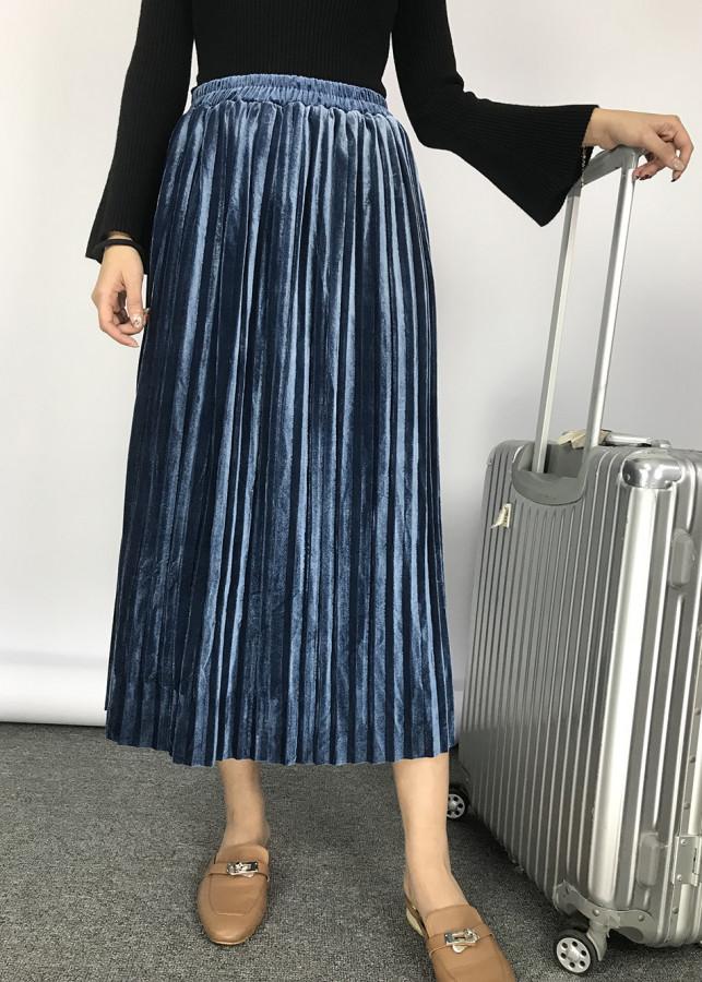 Chân váy nhung xếp ly dài - 1194962 , 2541956433743 , 62_7635032 , 169000 , Chan-vay-nhung-xep-ly-dai-62_7635032 , tiki.vn , Chân váy nhung xếp ly dài
