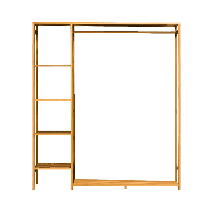 Tủ quần áo trống khung gỗ tre cao cấp, KT 123cm RE0270