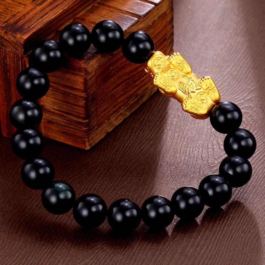 Diamond Phoenix Gold Bracelet Men and women 3D Hard Gold 999 Gold Lucky Lucky Zodiac Transfer Bead Bracelet about 0.9-1.1 g - 1685749 , 5003690486661 , 62_9302442 , 1410000 , Diamond-Phoenix-Gold-Bracelet-Men-and-women-3D-Hard-Gold-999-Gold-Lucky-Lucky-Zodiac-Transfer-Bead-Bracelet-about-0.9-1.1-g-62_9302442 , tiki.vn , Diamond Phoenix Gold Bracelet Men and women 3D Hard Go