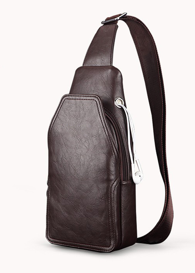 Túi đeo chéo nam - Tặng kèm ví da