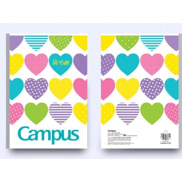 Vở kẻ ngang Campus Socute 80 trang (lốc 10 quyển )