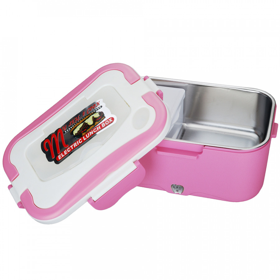1.5L 24V Portable Car Electric Heating Lunch Box Bento Food Warmer Container for Traveling Heating Car Rice Cooker