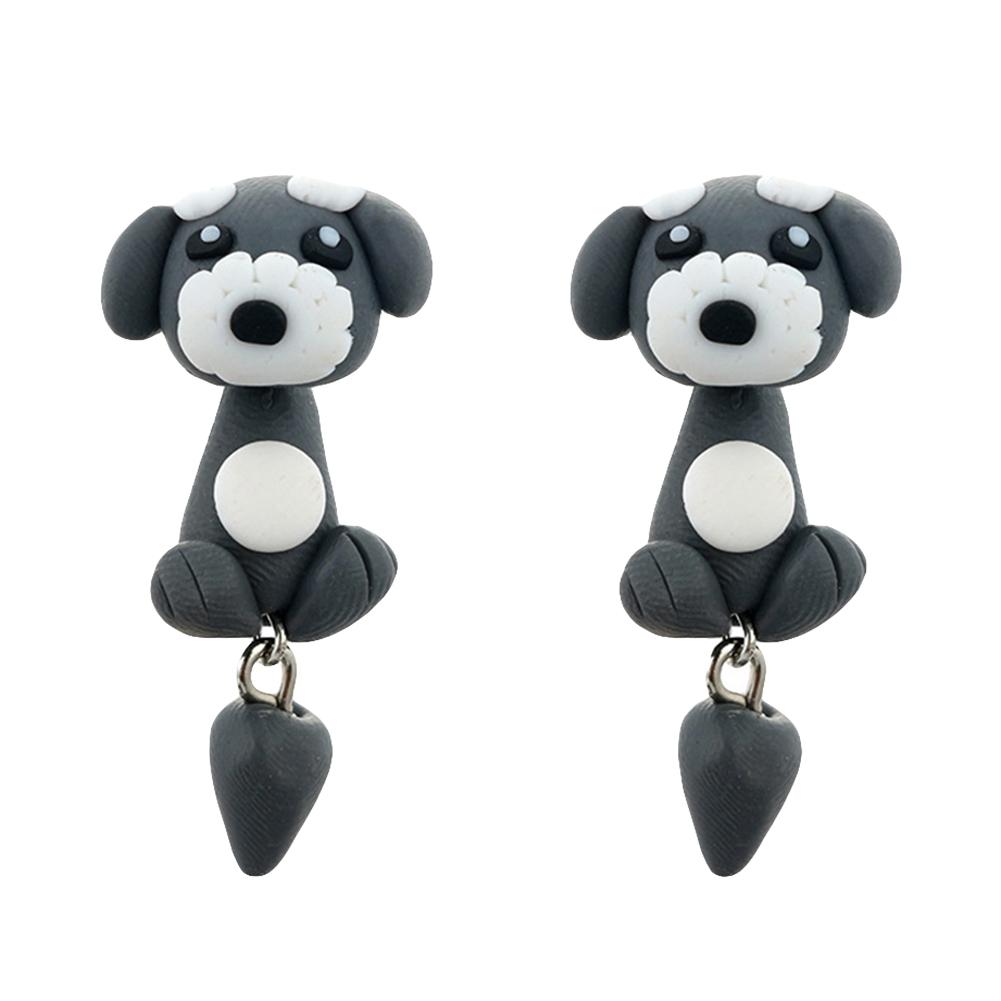 Creative Charm Cute Pottery Dog Earrings Lady Fashion Animal Piercing Jewelry