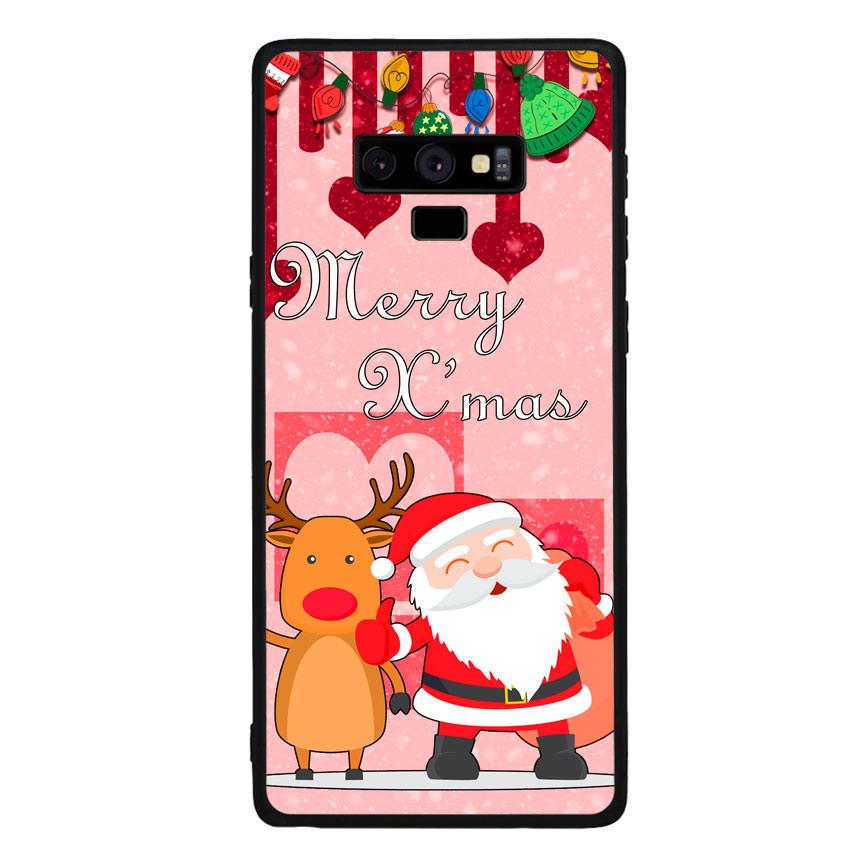 Ốp lưng viền TPU cho điện thoại Samsung Galaxy Note 9 - Xmas 04