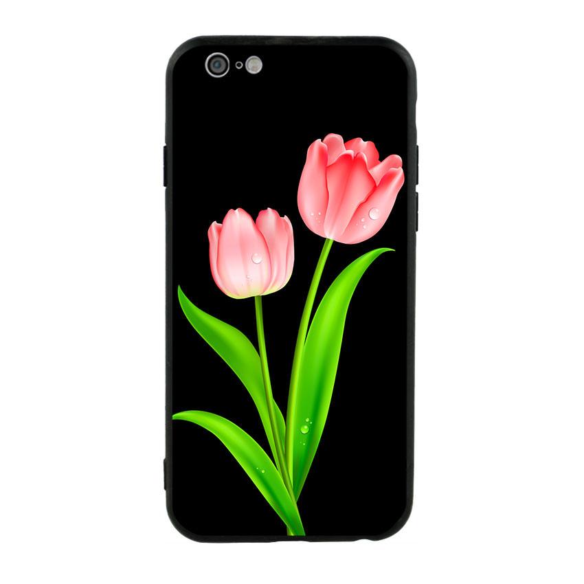 Ốp lưng viền TPU cho điện thoại Iphone 6/6s - Tulip 01