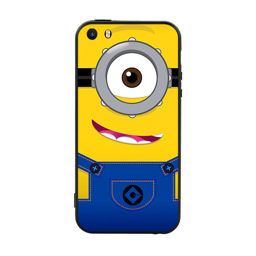 Ốp Lưng Viền TPU Cao Cấp Dành Cho iPhone 5 / 5s - Minion 01