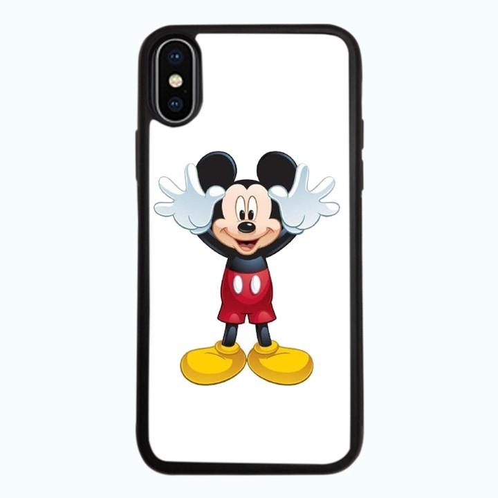 Ốp Lưng Kính Cường Lực Dành Cho Điện Thoại iPhone X Chuột Mickey Mẫu 2