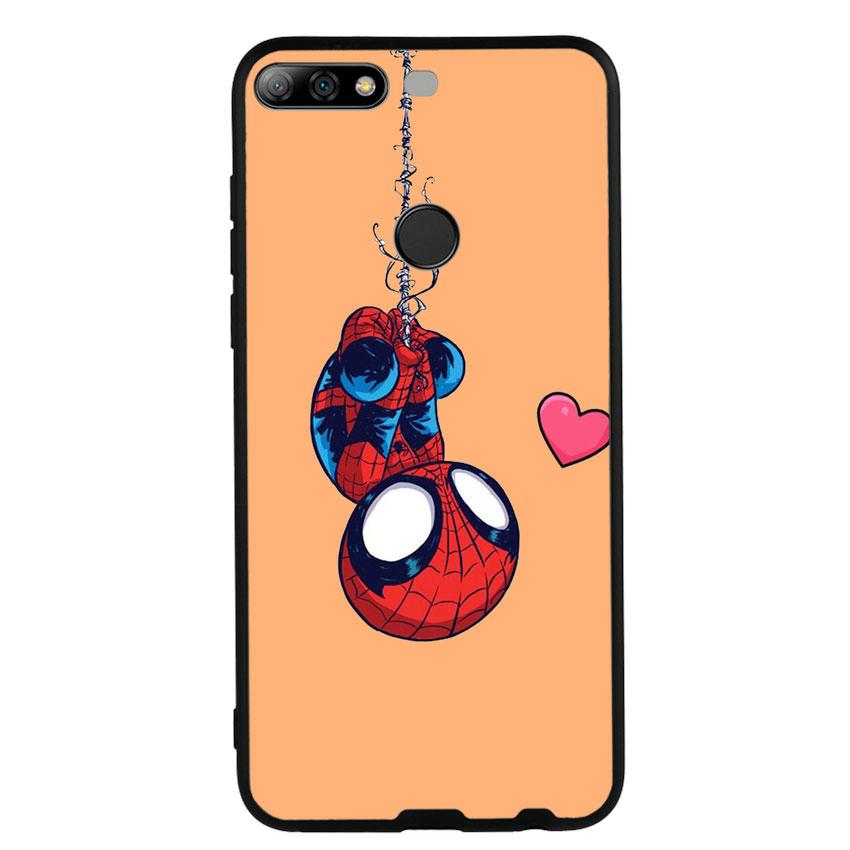 Ốp Lưng Viền TPU cho điện thoại Huawei Y7 Prime 2018 - Spiderman 02