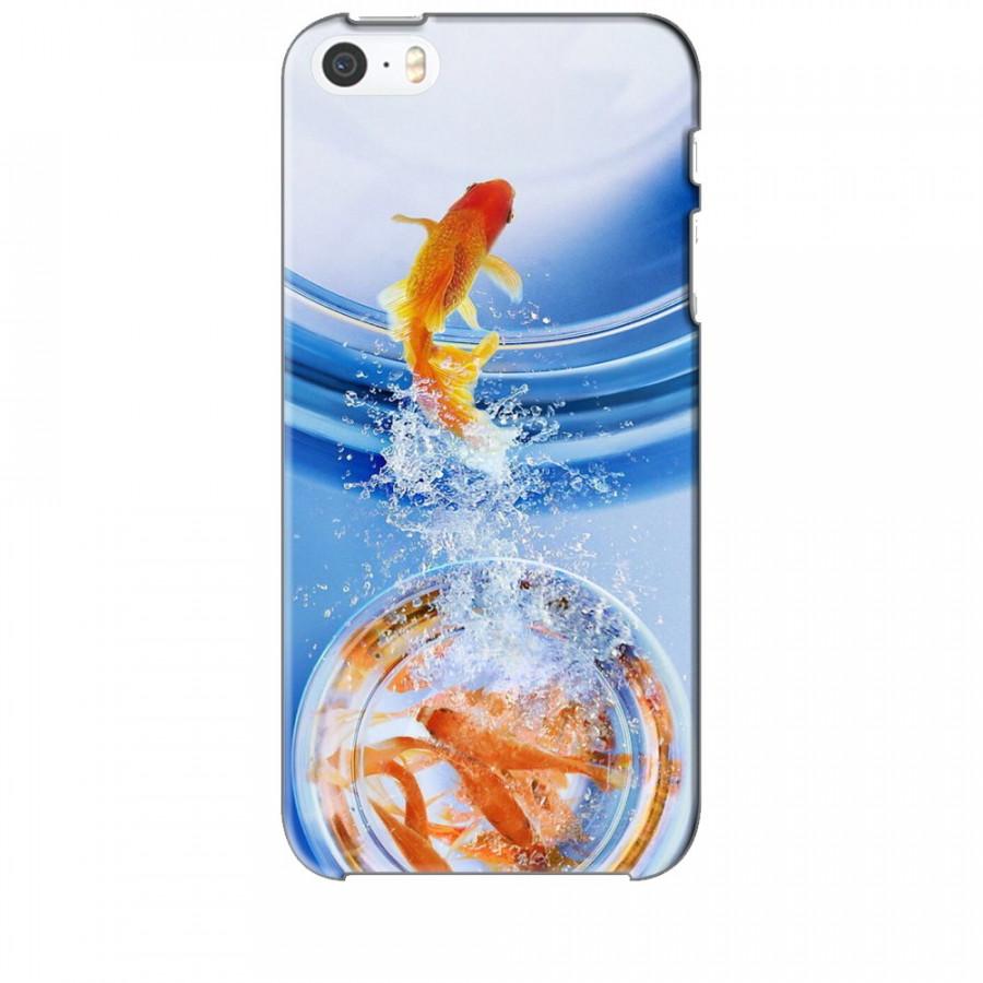 Ốp lưng dành cho điện thoại IPHONE 5 Cá Betta Vàng