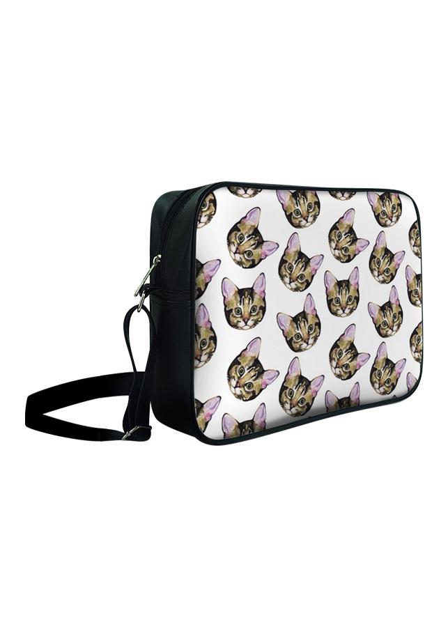 Túi Đeo Chéo Hộp Unisex Mặt Mèo Vàng - TCHT022