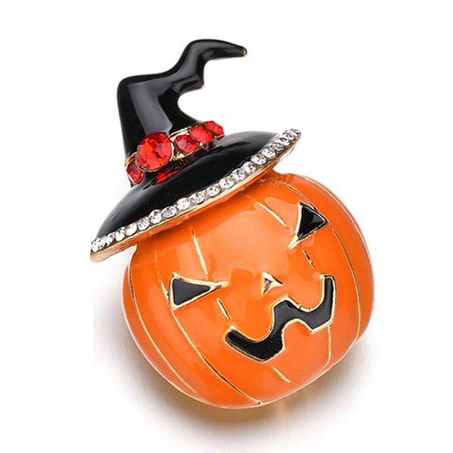 Trâm Cài Họa Tiết Quả Bí Halloween