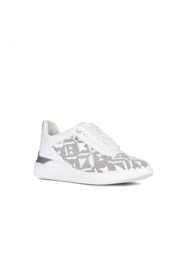 Giày Sneakers Nữ GEOX D THERAGON C WHITE