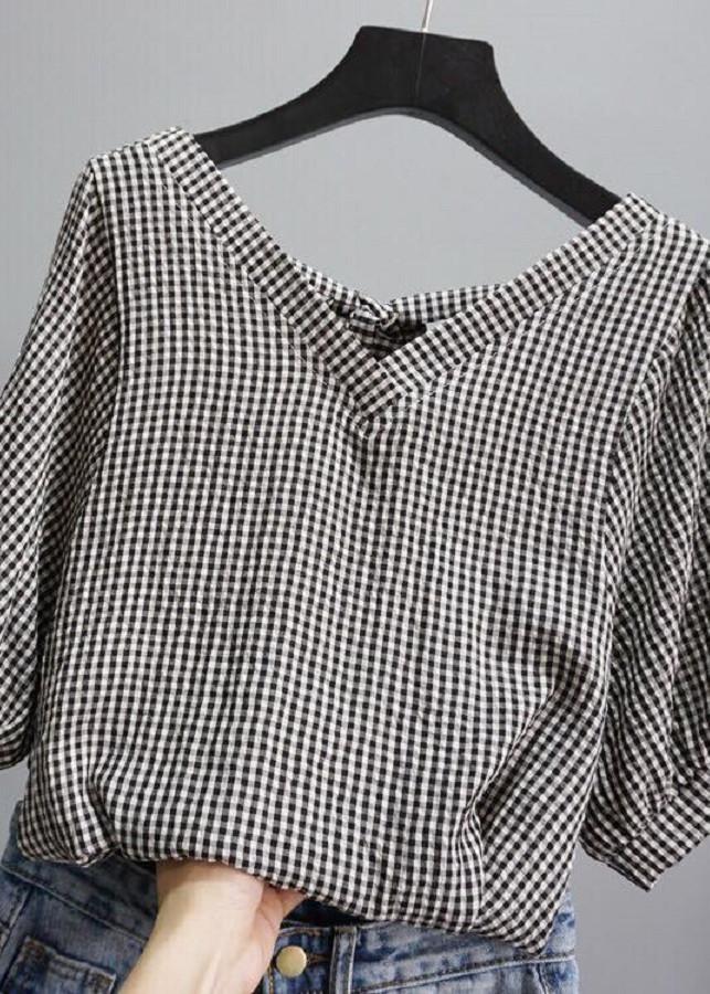 Áo thời trang caro nhí tay lửng - thắt nơ sau lưng - 9816496 , 3739057266448 , 62_17465058 , 830000 , Ao-thoi-trang-caro-nhi-tay-lung-that-no-sau-lung-62_17465058 , tiki.vn , Áo thời trang caro nhí tay lửng - thắt nơ sau lưng