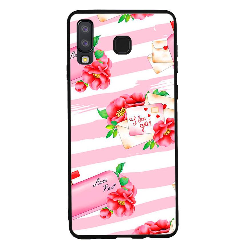 Ốp lưng nhựa cứng viền dẻo TPU cho điện thoại Samsung Galaxy A8 Star -I Love U 02