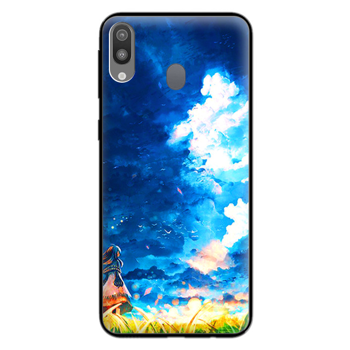 Ốp Lưng Viền TPU cho điện thoại cho điện thoại Samsung Galaxy M20 - 0293 LITTLEGIRL - Hàng Chính Hãng