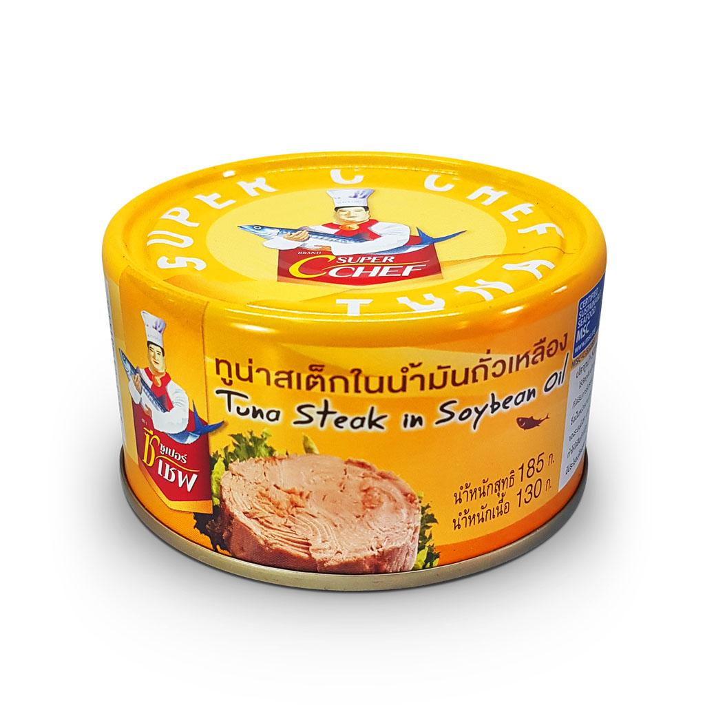 Tuna Steak In Soybean Oil Super C Chef - Cá ngừ ngâm dầu nành - 966671 , 3935975029442 , 62_13462807 , 53000 , Tuna-Steak-In-Soybean-Oil-Super-C-Chef-Ca-ngu-ngam-dau-nanh-62_13462807 , tiki.vn , Tuna Steak In Soybean Oil Super C Chef - Cá ngừ ngâm dầu nành