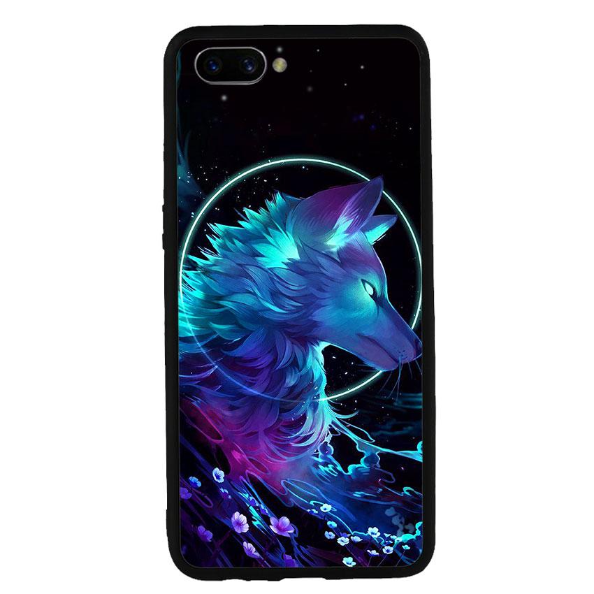Ốp lưng nhựa cứng viền dẻo TPU cho điện thoại Oppo A3s - Wolf
