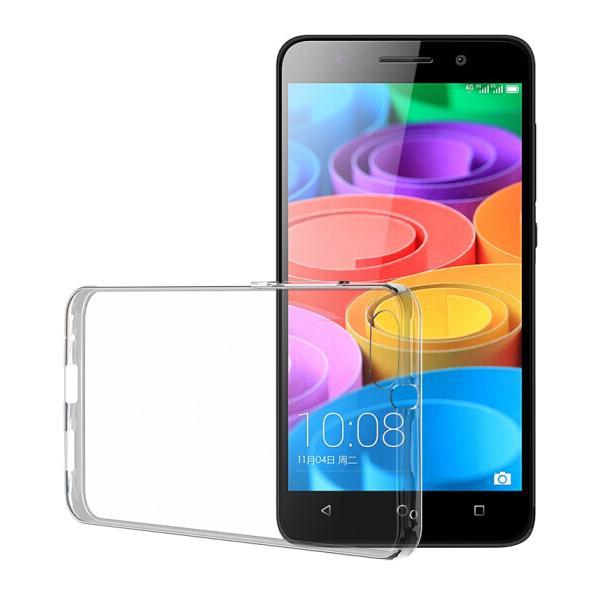 Ốp Nhựa Mềm Biaze Cho Huawei Honor Play 4X - Trắng Trong Suốt