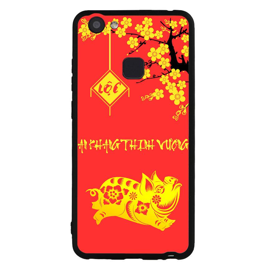Ốp lưng dành cho điện thoại Vivo V7 - V7 PLUS - Y83 - Pig Gold 01