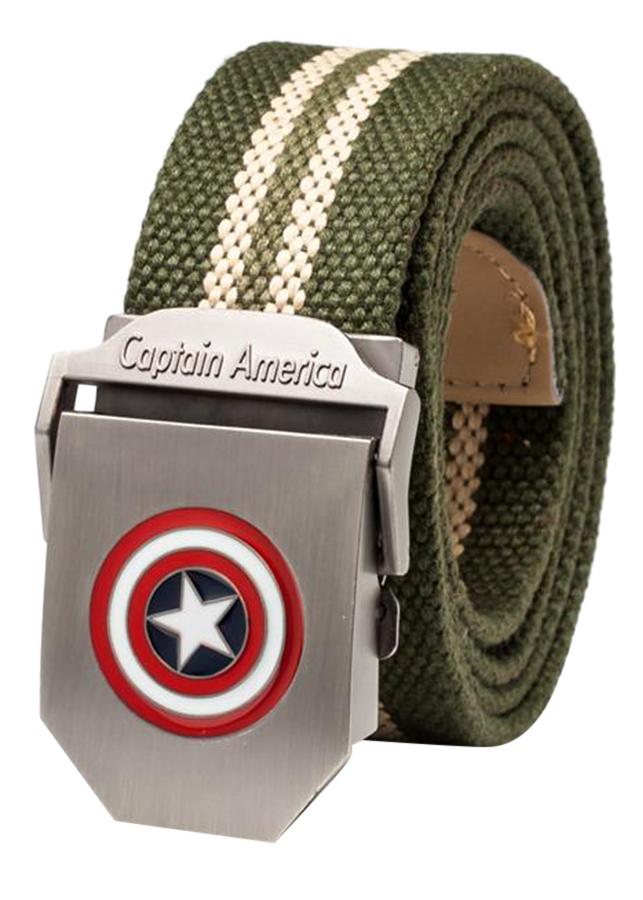 Thắt Lưng Vải Dù Nữ Mặt Khoá Hợp Kim Mặt Captain America - Màu 14