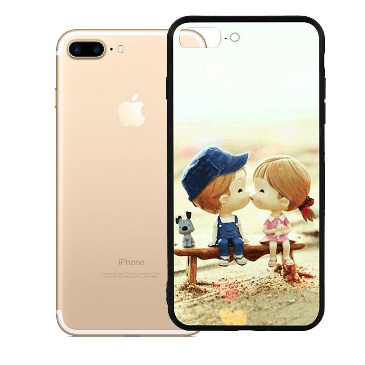 Ốp lưng viền TPU cao cấp dành cho iPhone 7 Plus - Kiss Love 03