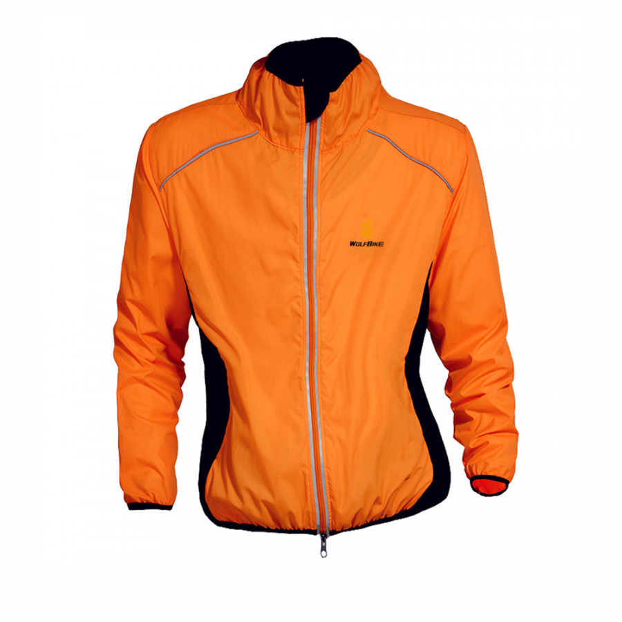 Wolfbike Cycling Jersey Men Riding Breathable Jacket Cycle Clothing Bike Long Sleeve Wind Coat