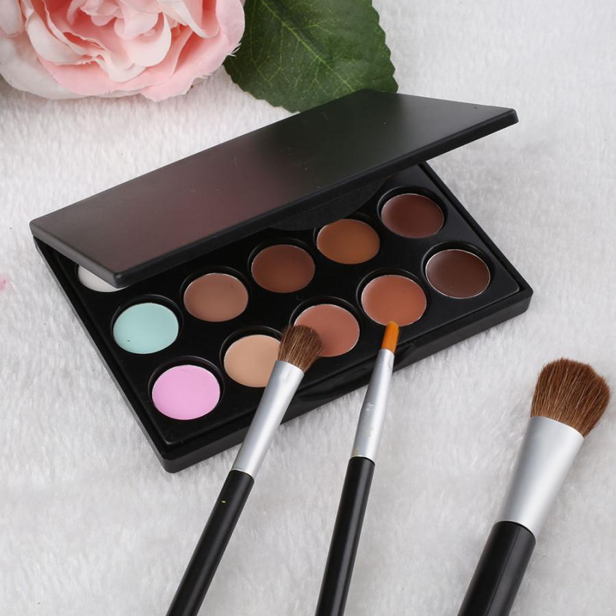 Women Beauty 15 Colors Makeup Cosmetic Face Cream Long Lasting Concealer Palette