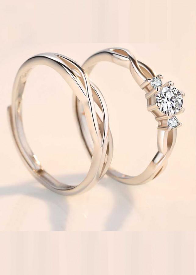 Cặp nhẫn Bạc Panmila - Nhẫn đôi tình yêu (TS-ND-A3)