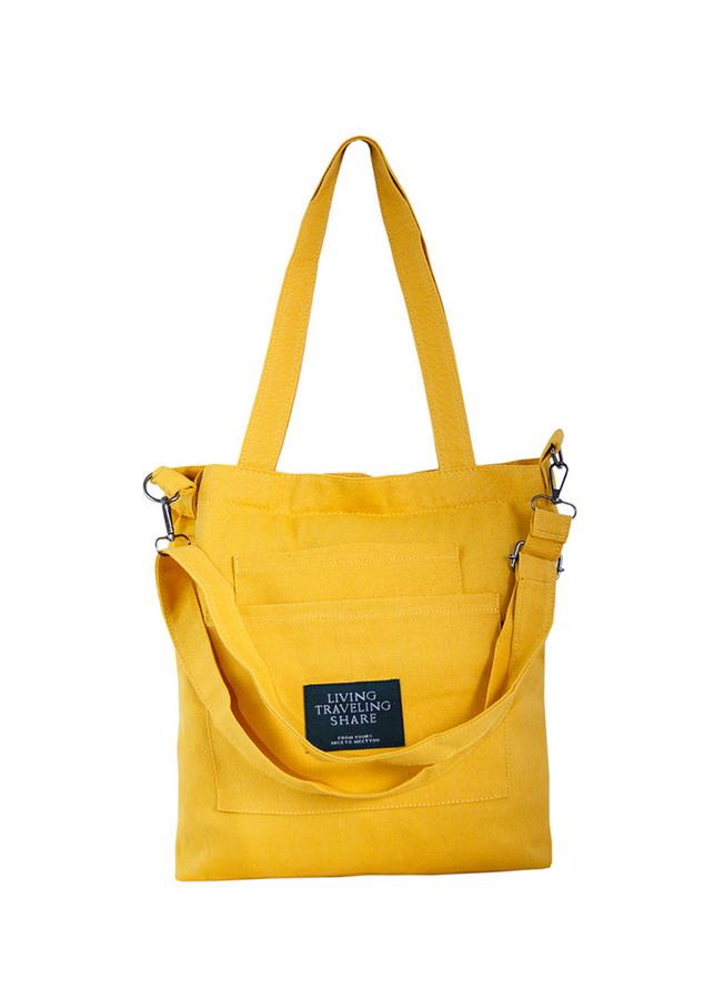 Túi Vải Tote Living 3 Ngăn Vàng XinhStore