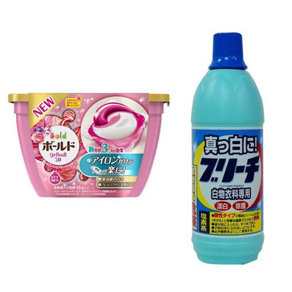 Combo Hộp 18 viên nước giặt xả hương hoa + Nước tẩy quần áo 600ml nội địa Nhật Bản - 1308907 , 7625708780899 , 62_7241099 , 391000 , Combo-Hop-18-vien-nuoc-giat-xa-huong-hoa-Nuoc-tay-quan-ao-600ml-noi-dia-Nhat-Ban-62_7241099 , tiki.vn , Combo Hộp 18 viên nước giặt xả hương hoa + Nước tẩy quần áo 600ml nội địa Nhật Bản