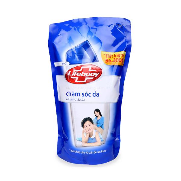 Sữa Tắm Lifebuoy Chăm Sóc Da Túi (850g)