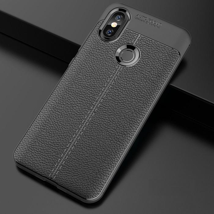 Ốp lưng Xiaomi Mi 8, Mi8 Explorer silicon giả da, chống sốc chính hãng Auto Focus