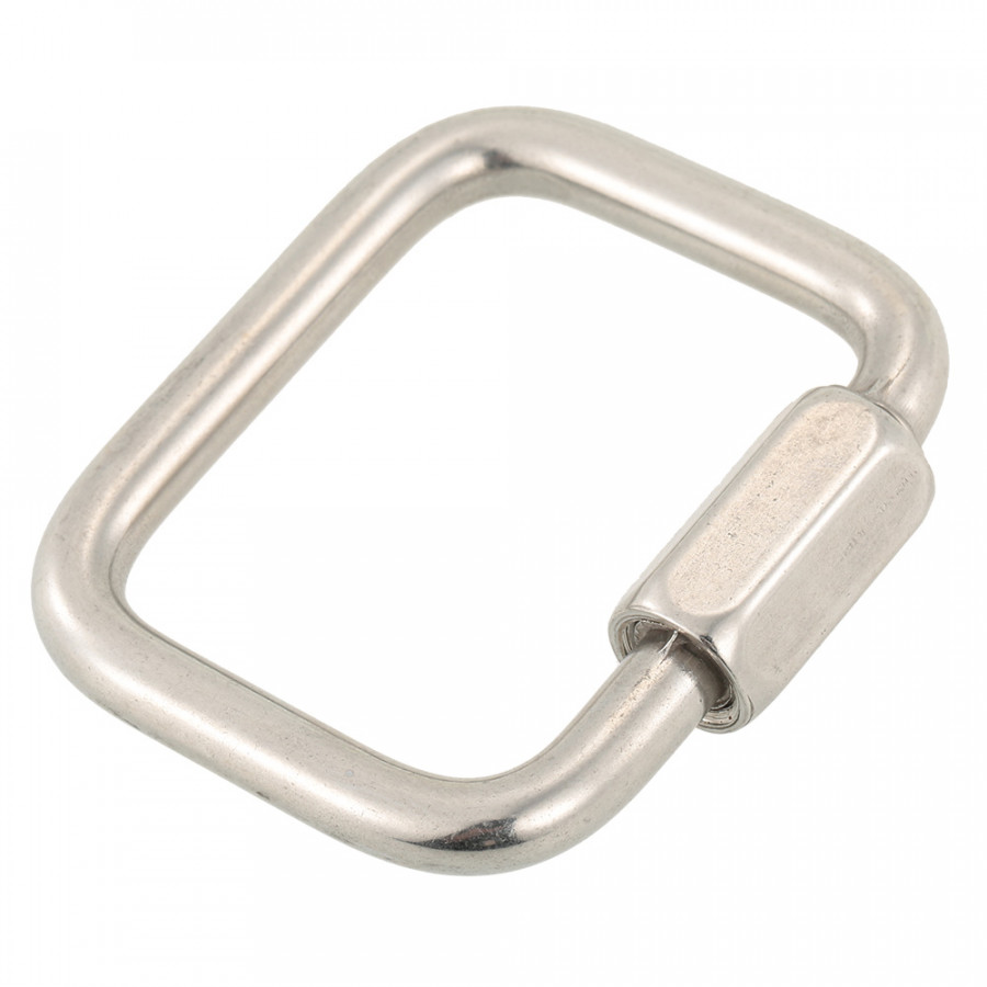 Stainless Steel Square Quick Link Locking Carabiner Hanging Hook Buckle for Paraglider Delta Wing Outdoor Camping Hiking