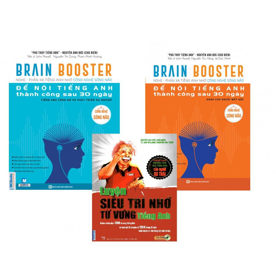 Combo Sách Brain Booster - Nghe - Phản Xạ Tiếng Anh Nhờ Công Nghệ Sóng Não ( Tặng Ngay Luyện Siêu Trí Nhớ Từ Vựng... - 1818664 , 6161120039852 , 62_13402813 , 588000 , Combo-Sach-Brain-Booster-Nghe-Phan-Xa-Tieng-Anh-Nho-Cong-Nghe-Song-Nao-Tang-Ngay-Luyen-Sieu-Tri-Nho-Tu-Vung...-62_13402813 , tiki.vn , Combo Sách Brain Booster - Nghe - Phản Xạ Tiếng Anh Nhờ Công Nghệ